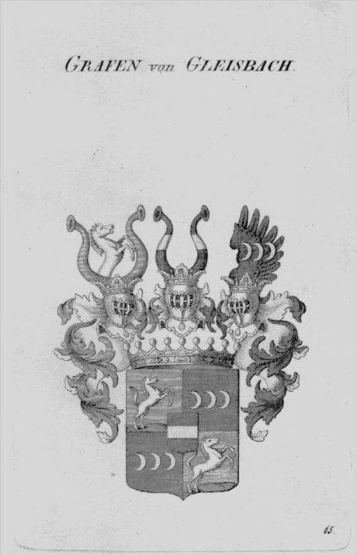 Gleisbach Wappen Adel coat of arms heraldry Heraldik crest Kupferstich