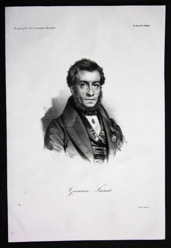 Germain Sarrut Politiker politician Frankreich Lithographie Portrait