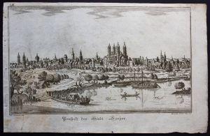 Speyer Panorama Gesamtansicht Kupferstich Eder Sommer