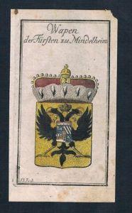 Mindelheim Fürst Wappen Kupferstich
