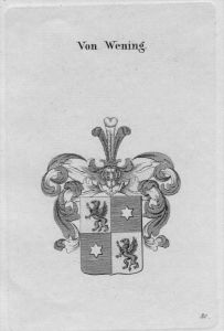 Wening Wappen Adel coat of arms heraldry Heraldik crest Kupferstich
