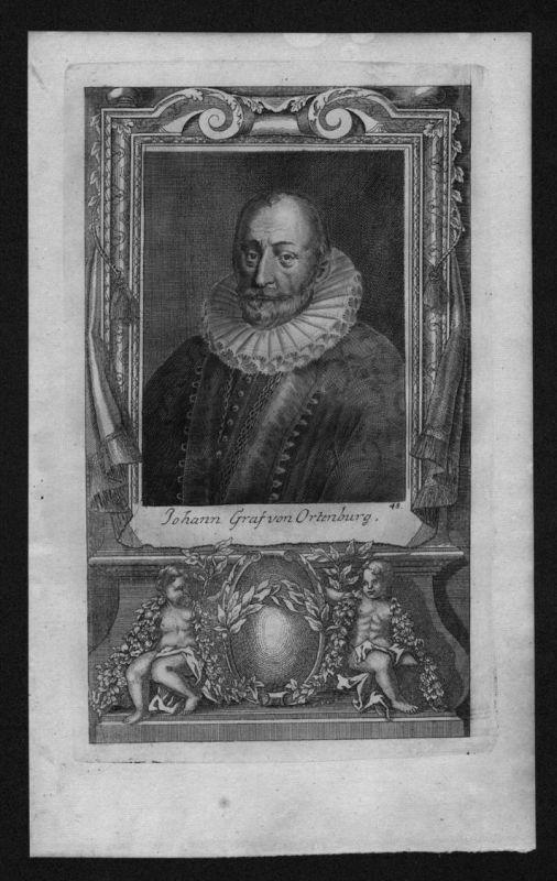 Johann Georg von Ortenburg Reichsgraf engraving Kupferstich Portrait