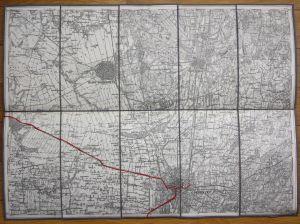 Debrecen Hajduböszörmeny Hajduhadhaz Teglas Ungarn Hungary Karte map