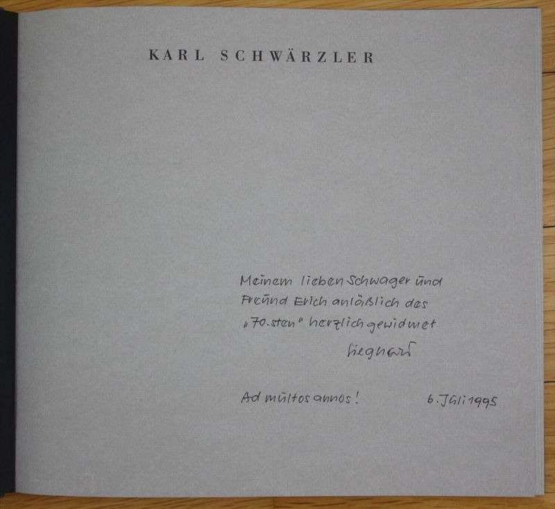 Oskar Streitler Holzschnitt Austellung Katalog Karl Schwärzler