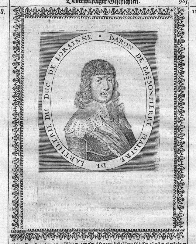 Francois de Bassompierre Kupferstich Portrait engraving gravure