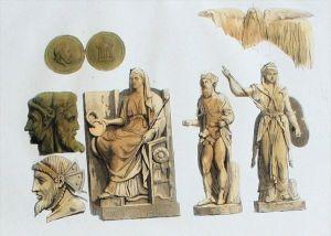 Römer Antike Mythologie Götter Altertum Aquatinta aquatint antique print