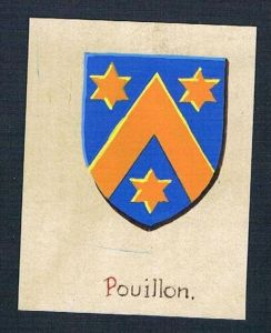 0. Jh. - Pouillon Blason Aquarelle Heraldik coat of arms heraldique