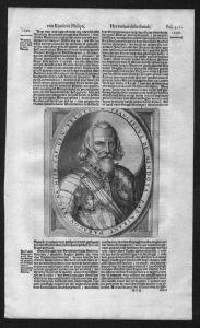 . - Francisco Hurtado de Mendoza Admiral von Aragon Kupferstich Portrait