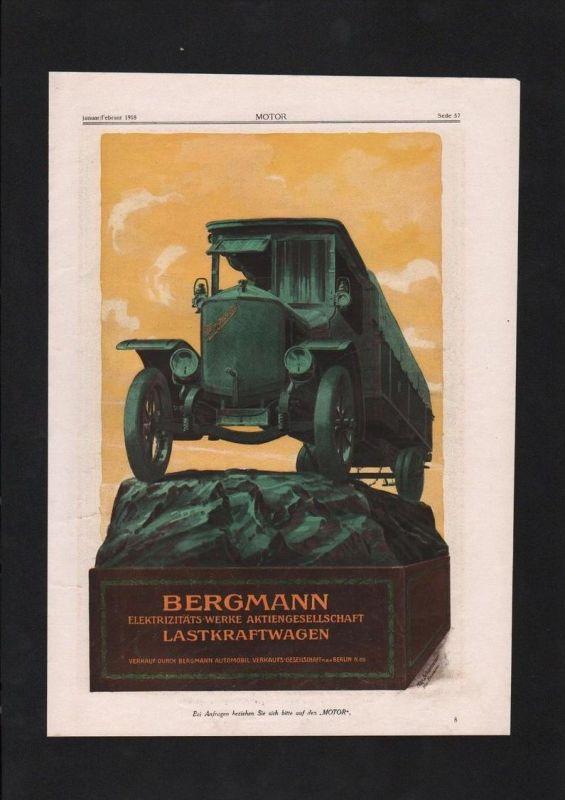 Auto Automobil Bergmann Lastkraftwagen Mafam Rheydt Berlin Reklame