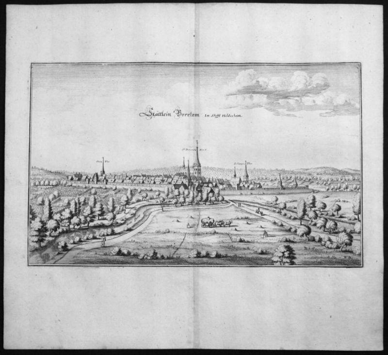 Bockenem - Gesamtansicht - Kupferstich Merian