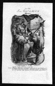 Artemius Antiochia 20. Oktober - Kupferstich Heiliger Heiligenbild Holy Card