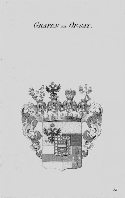 Orsay Wappen Adel coat of arms heraldry Heraldik crest Kupferstich