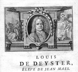 Louis de Deyster painter Maler Portrait Kupferstich gravure engraving