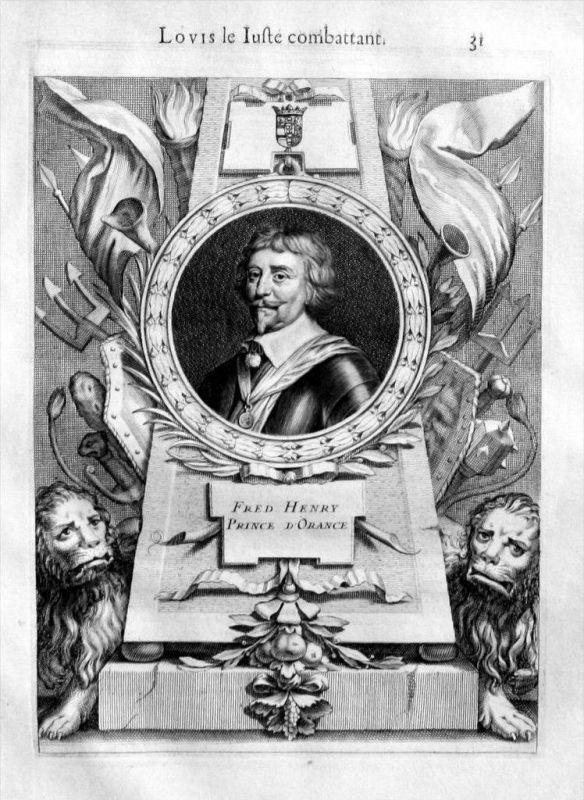 Friedrich Heinrich von Oranien Holland Portrait gravure engraving
