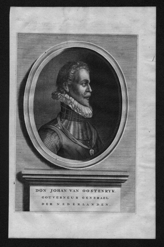 Juan de Austria Ritter Österreich Johann Portrait Kupferstich