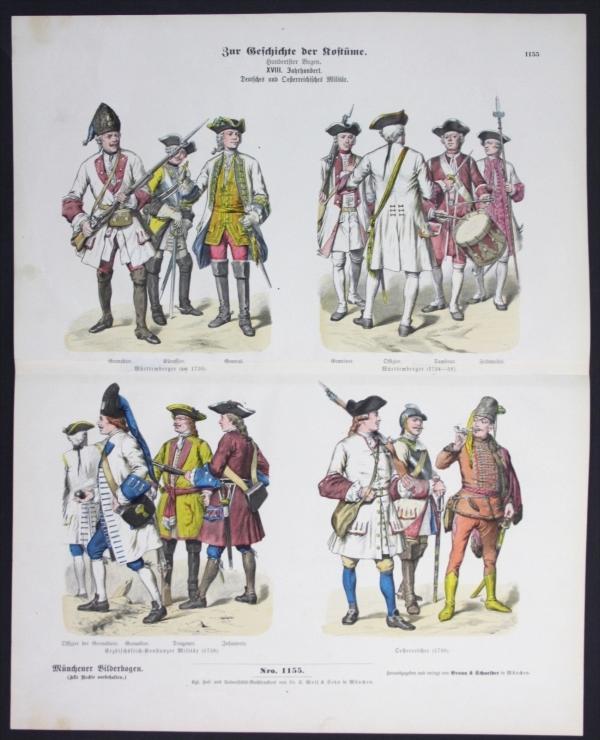 Geschichte der Kostüme - Militär - Münchener Bilderbogen