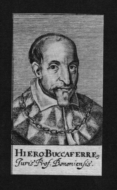 Hieronimus Buccaferre Jurist lawyer Professor Kupferstich Portrait