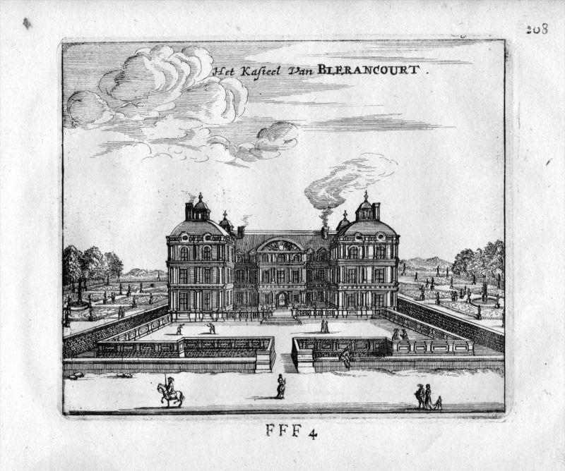 Chateau de Blerancourt Aisne Frankreich France gravure estampe Kupferstich