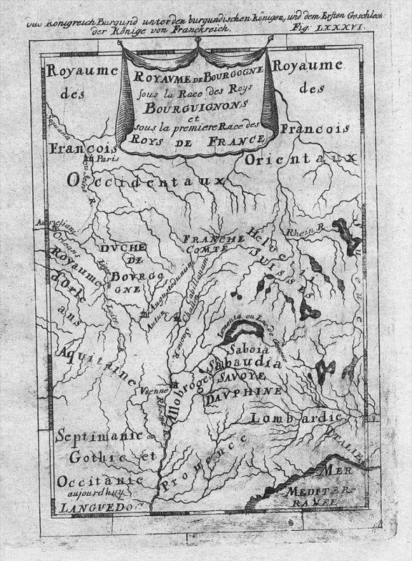 Bourgogne Burgund carte Karte Kupferstich Mallet gravure estampe