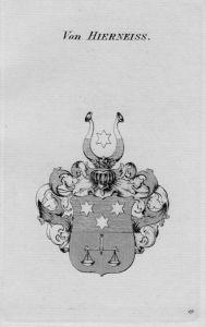 Hierneiss Wappen Adel coat of arms heraldry Heraldik crest Kupferstich