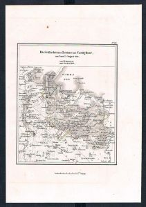 Lonato Italien Italia Schlacht battle Karte map incisione Stahlstich