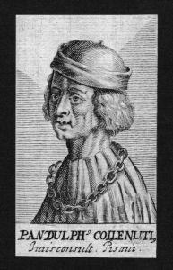 Pandulph Coilenuti Jurist lawyer Pisa Italien Kupferstich Portrait