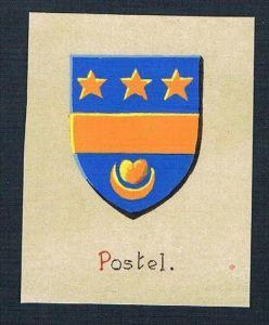 0. Jh. - Postel Blason Aquarelle Wappen Heraldik coat of arms