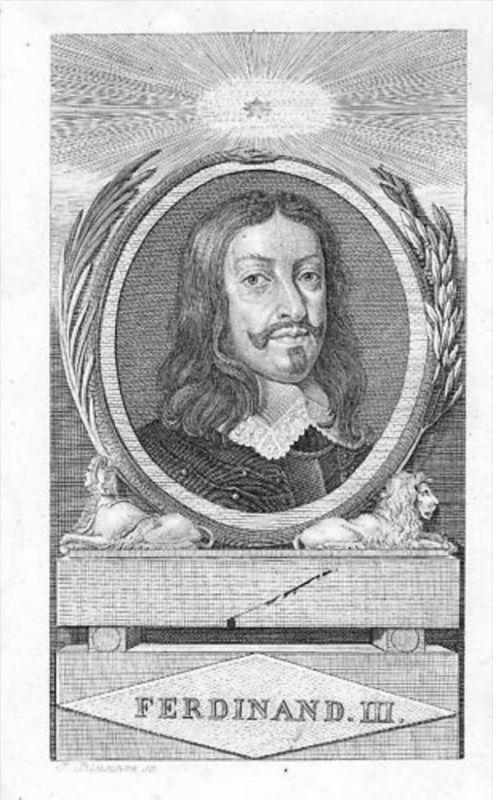 Ferdinand III Kaiser König Kupferstich Portrait engraving
