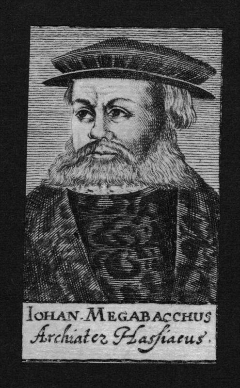 Johannes Megabachhius Jurist lawyer Hessen Hassia Kupferstich Portrait