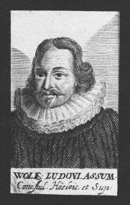 Wolfgang Ludwig Assum Theologe Gießen Weikersheim Kupferstich Portrait