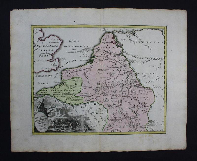 Holland Nederland Niederlande Karte map engraving Kupferstich