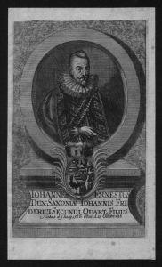 Johann Ernst Sachsen Eisenach Herzog Portrait Kupferstich engraving