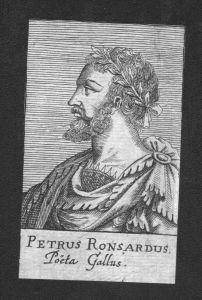 Pierre de Ronsard  Dichter poet Frankreich Kupferstich Portrait