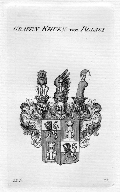 Khuen von Belasy - Wappen Adel coat of arms heraldry Heraldik Kupferstich