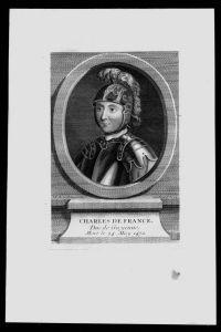 Charles de Valois Herzog Normandie Frankreich Kupferstich Portrait