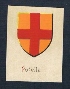 0. Jh. - Potelle Blason Aquarelle Heraldik coat of arms heraldique
