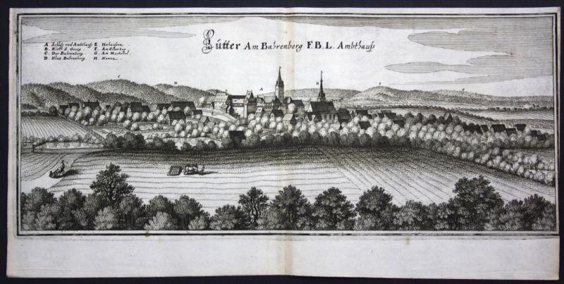 Lutter am Barenberge / LK Goslar - Kupferstich Merian