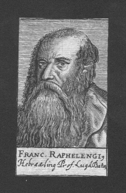 Frans van Ravelingien Professor Leiden Holland Kupferstich Portrait