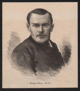 Georges Ohnet Georges Henot Journalist Schriftsteller Holzstich Portrait