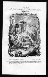 Crispinus und Crispinianus 25. Oktober - Kupferstich Heiliger Heiligenbild Holy Card
