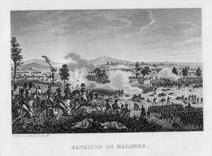 Napoleon Schlacht battle Marengo Italien Italia incisione Stahlstich