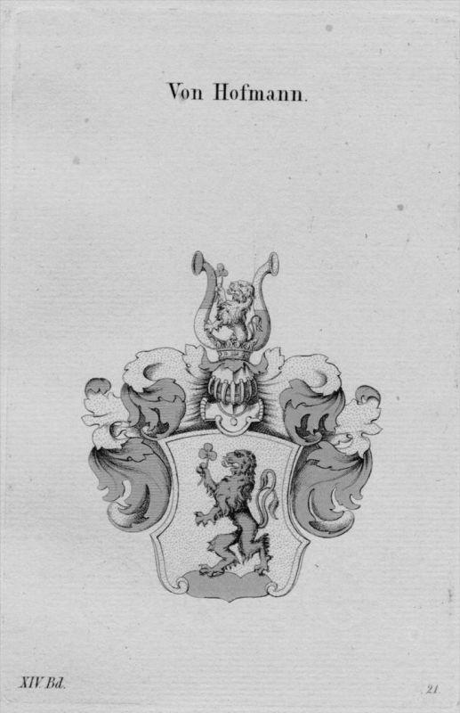 Hofmann Wappen Adel coat of arms heraldry Haraldik Kupferstich