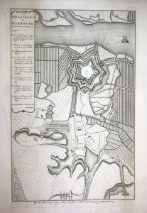 Siege du Chateau de Harbourg du 28me Nov. au 27 Decembr. 1757 // Hamburg Harburg Belagerung