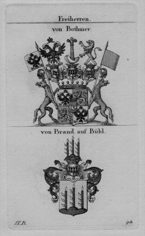 Bothmer Brand Bühl Wappen Adel coat of arms heraldry Heraldik Kupferstich