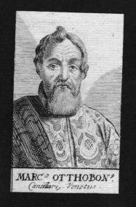 Marcus Ottoboni Ottobon Jurist lawyer Venedig Italy Kupferstich Portrait