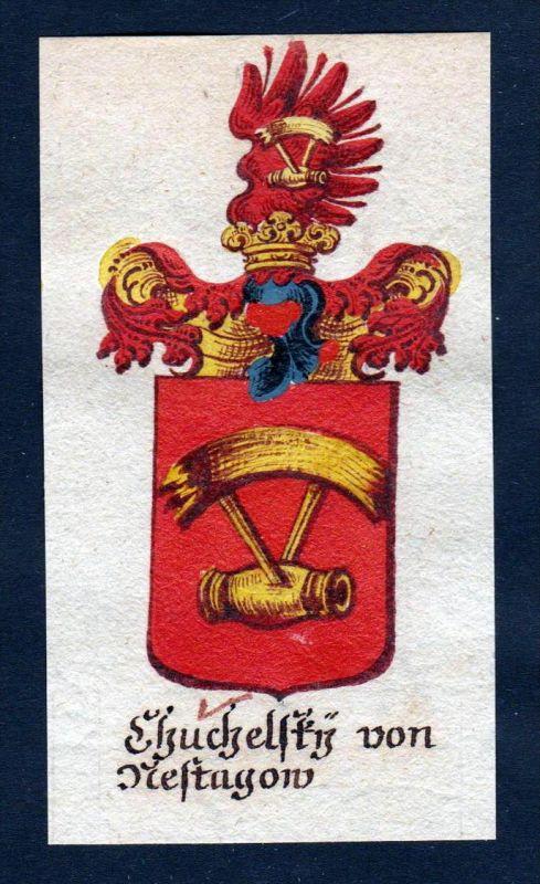 Chuchelsky von Mestagau Böhmen Wappen coat of arms Manuskript