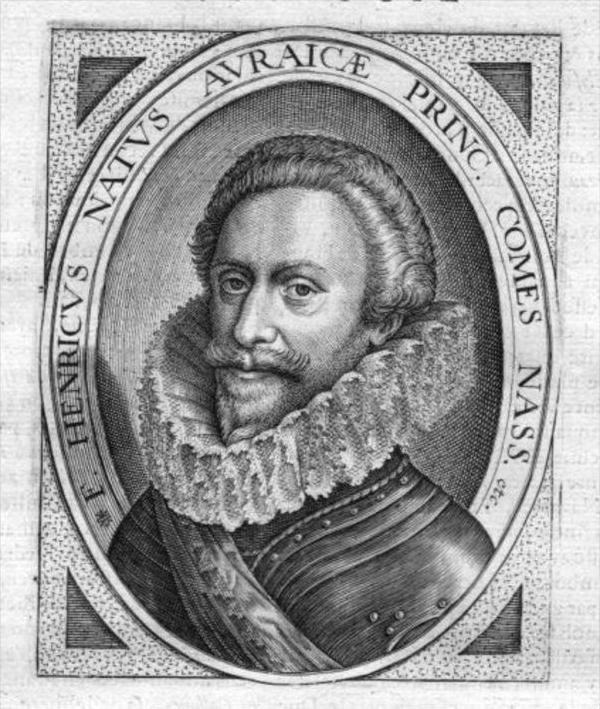 Friedrich Heinrich v. Oranien Kupferstich Portrait engraving gravure