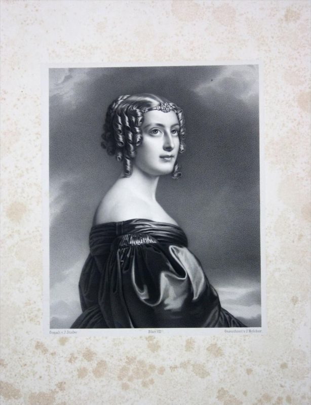 Jane Elizabeth Digby Portrait Lithographie