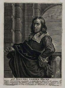 Jan van den Hecke painter Maler Kupferstich Portrait engraving