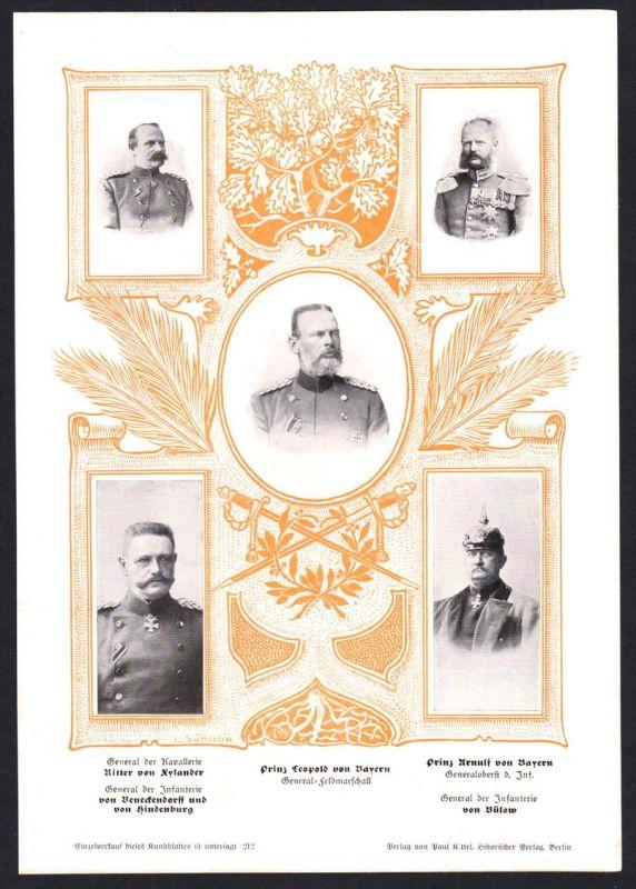 Prinz Leopold von Bayern Ritter Eylander General Bülow Kunstdruck Portrait